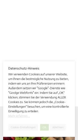 Vorschau der mobilen Webseite www.spargelhof-schaefer.de, Spargelhof Schäfer, Karl Schäfer