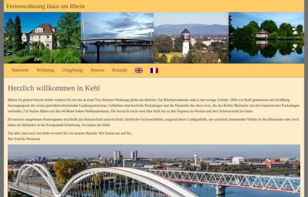 Vorschau von ferienwohnung-kehl.de, Ferienwohnung Haus am Rhein