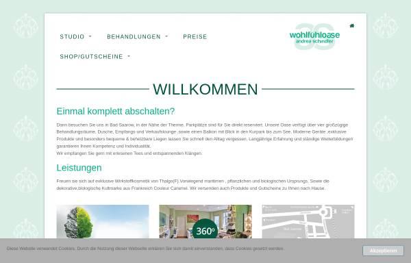 Vorschau von www.beauty-badsaarow.de, Wohlfühl-Oase Andrea Schindler