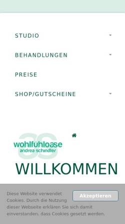 Vorschau der mobilen Webseite www.beauty-badsaarow.de, Wohlfühl-Oase Andrea Schindler