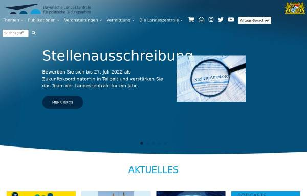 Vorschau von www.blz.bayern.de, Landeszentrale für politische Bildung