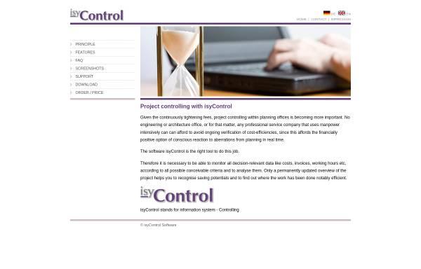 Vorschau von www.isycontrol.de, IsyControl Software, Burkhard Schneider