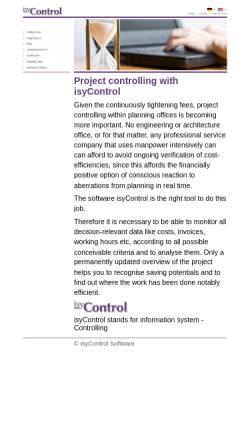 Vorschau der mobilen Webseite www.isycontrol.de, IsyControl Software, Burkhard Schneider
