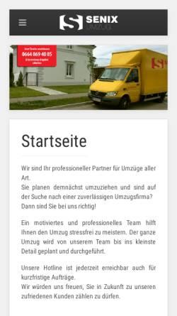Vorschau der mobilen Webseite www.senix-umzug.at, Senix Umzug Wien