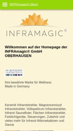Vorschau der mobilen Webseite www.inframagic.de, Inframagic GmbH