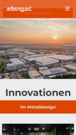 Vorschau der mobilen Webseite www.stengel-gmbh.de, Stengel Apparatebau GmbH