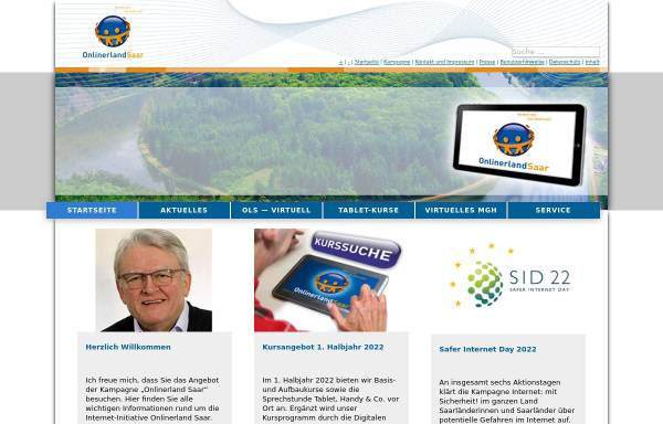 Vorschau von www.onlinerlandsaar.de, Onlinerland Saar