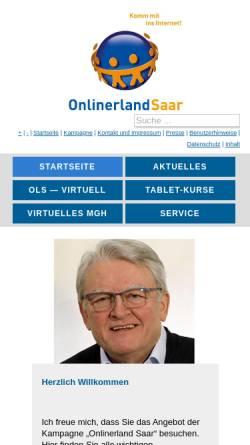 Vorschau der mobilen Webseite www.onlinerlandsaar.de, Onlinerland Saar