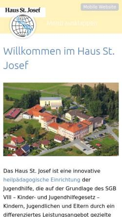 Vorschau der mobilen Webseite www.hsj-buechlberg.de, Haus St. Josef
