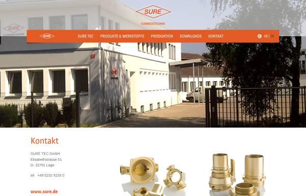 Vorschau von www.sure.de, Sure Tec GmbH