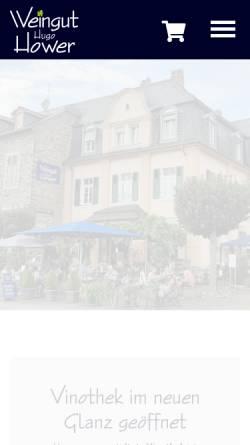 Vorschau der mobilen Webseite www.weingut-hower.de, Weingut Hugo Hower