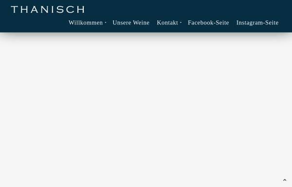 Vorschau von www.thanisch.de, Weingut Ludwig Thanisch und Sohn