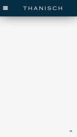 Vorschau der mobilen Webseite www.thanisch.de, Weingut Ludwig Thanisch und Sohn