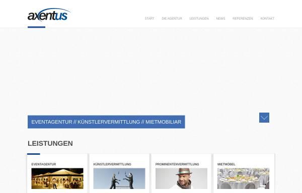 Vorschau von www.axentus.de, DJ- und Eventagentur Axentus