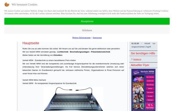 Vorschau von www.verleih-nrw.de, Verleih NRW