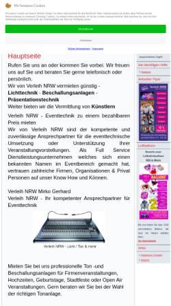 Vorschau der mobilen Webseite www.verleih-nrw.de, Verleih NRW