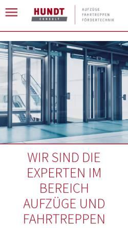 Vorschau der mobilen Webseite www.hundt-consult.de, Hundt Consult GmbH