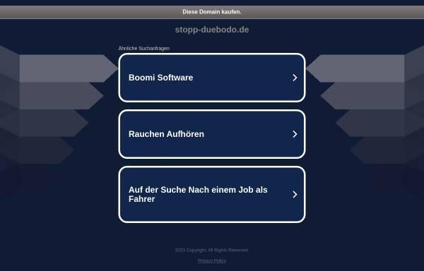 Vorschau von www.stopp-duebodo.de, Bürgerinitiative Bochum gegen die DüBoDo