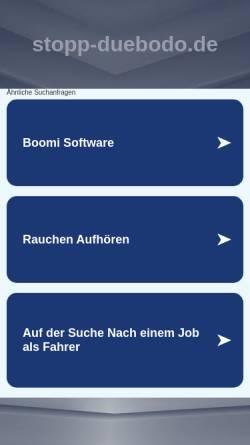 Vorschau der mobilen Webseite www.stopp-duebodo.de, Bürgerinitiative Bochum gegen die DüBoDo