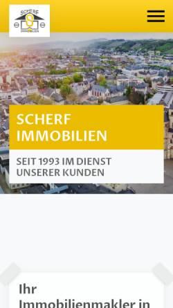 Vorschau der mobilen Webseite www.scherf-immobilien.de, Scherf Profi Immobilien Service GmbH