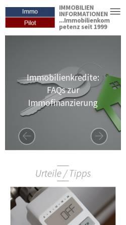 Vorschau der mobilen Webseite www.immopilot.de, Immobilienlexikon