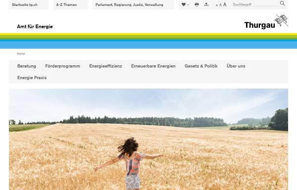 Vorschau von www.energie.tg.ch, Die Energieseite des Kantons Thurgau
