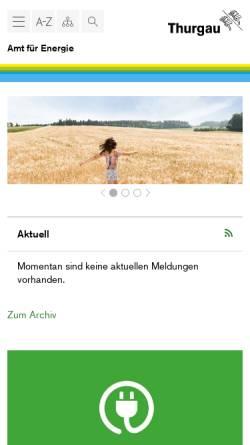 Vorschau der mobilen Webseite www.energie.tg.ch, Die Energieseite des Kantons Thurgau