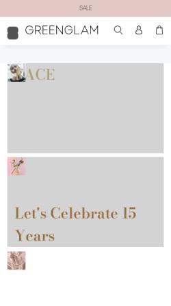 Vorschau der mobilen Webseite www.greenglam.de, Greenglam.de, Dr Kraus Apotheke