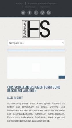 Vorschau der mobilen Webseite www.schallenberg-shop.de, Christian Schallenberg GmbH
