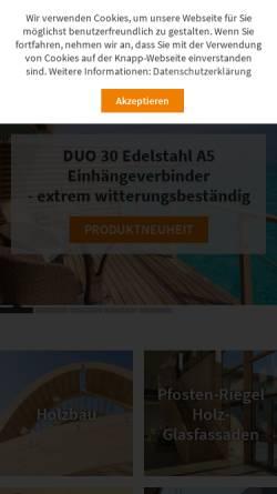 Vorschau der mobilen Webseite www.knapp-verbinder.com, Knapp GmbH