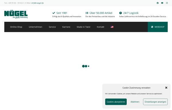 Vorschau von www.noegel.de, Nögel Montagetechnik Vertriebsgesellschaft mbH