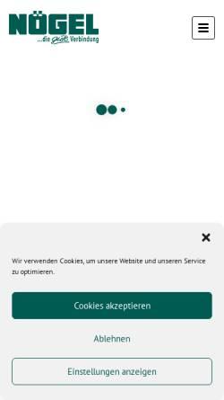 Vorschau der mobilen Webseite www.noegel.de, Nögel Montagetechnik Vertriebsgesellschaft mbH
