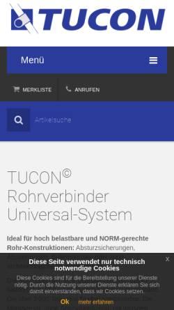 Vorschau der mobilen Webseite www.tucon.at, Tucon-Verbindungstechnik