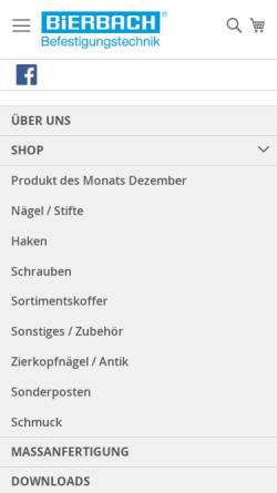 Vorschau der mobilen Webseite www.bierbach-gmbh.de, Bierbach GmbH