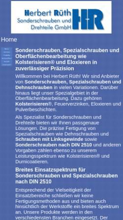 Vorschau der mobilen Webseite www.herbertrueth.de, Herbert Rüth GmbH