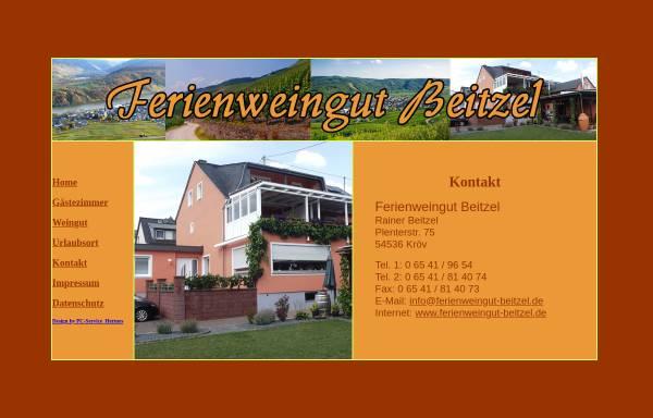Vorschau von www.ferienweingut-beitzel.de, Ferienweingut Beitzel