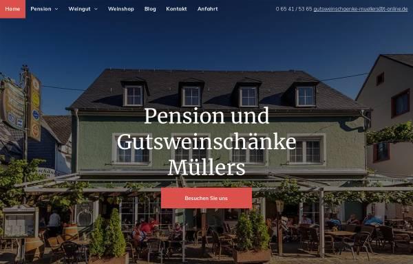 Vorschau von www.gutsweinschaenke-muellers.de, Pension und Gutsweinschänke Müllers