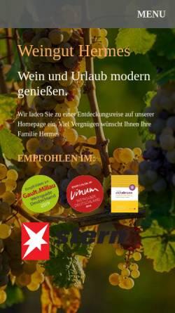 Vorschau der mobilen Webseite bernd-hermes.de, Weingut Bernd Hermes