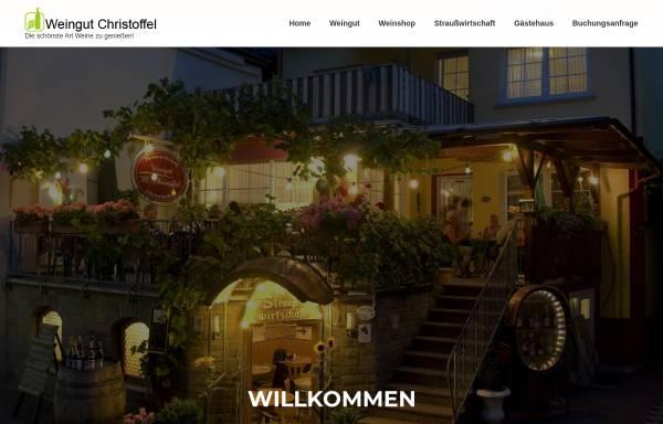 Vorschau von www.weingut-christoffel.de, Weingut Manfred Christoffel