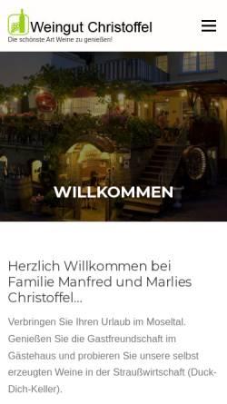 Vorschau der mobilen Webseite www.weingut-christoffel.de, Weingut Manfred Christoffel