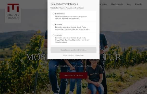 Vorschau von www.das-weingut.com, Weingut Michael Trossen