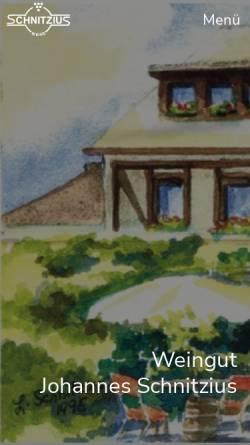 Vorschau der mobilen Webseite www.schnitzius-weine.de, Weingut Otto Schnitzius