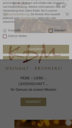 Vorschau der mobilen Webseite www.moselwein-ambiente.de, Weingut-Brennerei Detlef Müllers