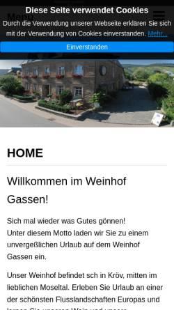 Vorschau der mobilen Webseite www.weinhof-gassen.de, Weinhof Gassen