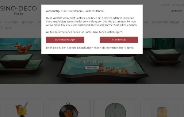 Vorschau von www.sino-deco.de, Sino-Deco Einrichtungs GmbH