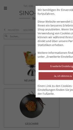Vorschau der mobilen Webseite www.sino-deco.de, Sino-Deco Einrichtungs GmbH