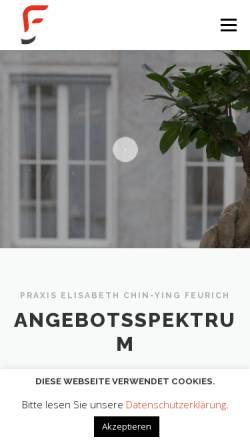 Vorschau der mobilen Webseite www.psychotherapie-feurich.de, Praxis für Paartherapie