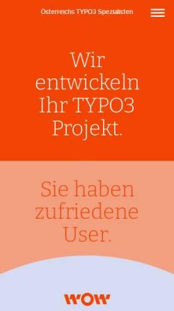 Vorschau der mobilen Webseite www.cms-typo3.at, wow! solution
