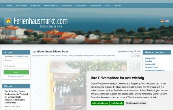 Vorschau von www.ferienhausmarkt.com, Landferienhaus Kleine Post