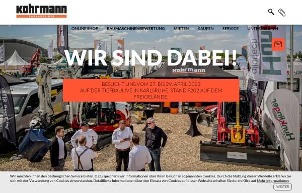 Vorschau von www.kohrmann-baumaschinen.de, Kohrmann Baumaschinen GmbH